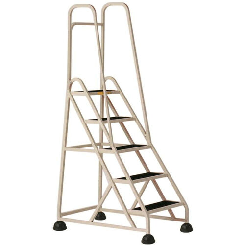 Our Stop Step 5 Step Ladder with Double Handrail - Beige is on sale now.