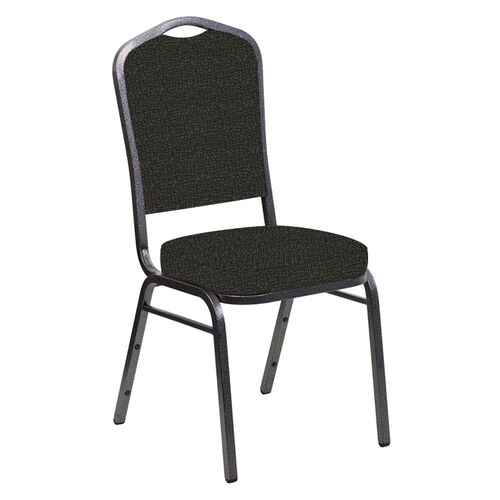 Our Crown Back Banquet Chair in Cobblestone Pewter Fabric - Silver Vein Frame is on sale now.