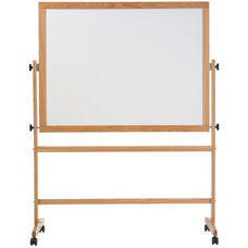 Double-Sided Remarkaboard® Markerboard with Wood Trim - 42