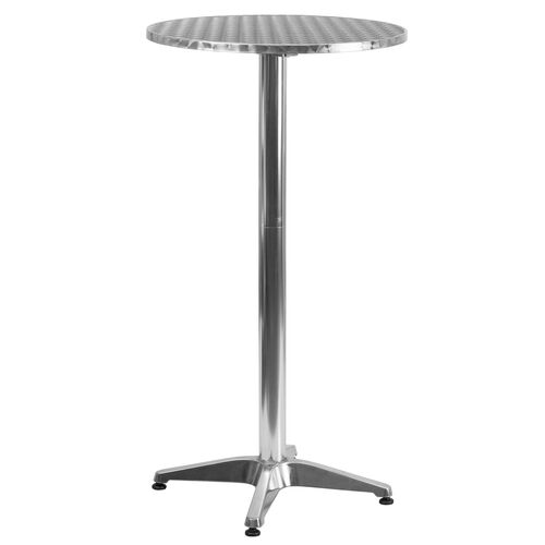 Our 2-Foot Round Aluminum Indoor-Outdoor Folding Bar Height Table with Base is on sale now.