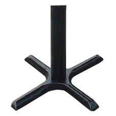 Cast Iron Table Base Set with Bar Stool Height Column - Black