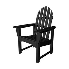 POLYWOOD® Adirondack Collection Dining Chair - Black
