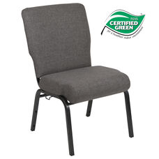 Advantage 20.5 in. Charcoal Gray Molded Foam Church Chair