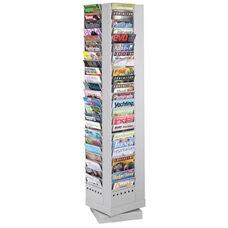 Safco Rotary Magazine Rack - 92 Pockets -14