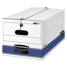 Bankers Box® STOR/FILE Storage Box - Letter - Button Tie - White/Blue - 12/Carton