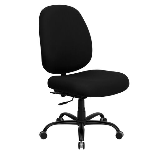 HERCULES Series Big & Tall 400 lb. Rated Black Fabric Executive Swivel Ergonomic Office Chair with Adjustable Back