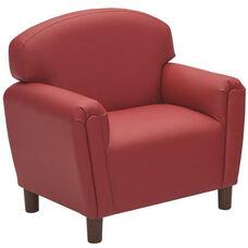 Just Like Home Enviro-Child Preschool Size Chair - Deep Red - 26
