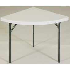 Blow-Molded Plastic Top Wedge Food Service Table