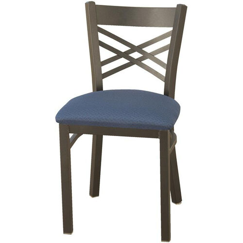 Our 3300 Series Square Steel Frame Armless Cafe Chair with Contoured X-Shaped Back and Upholstered Seat is on sale now.