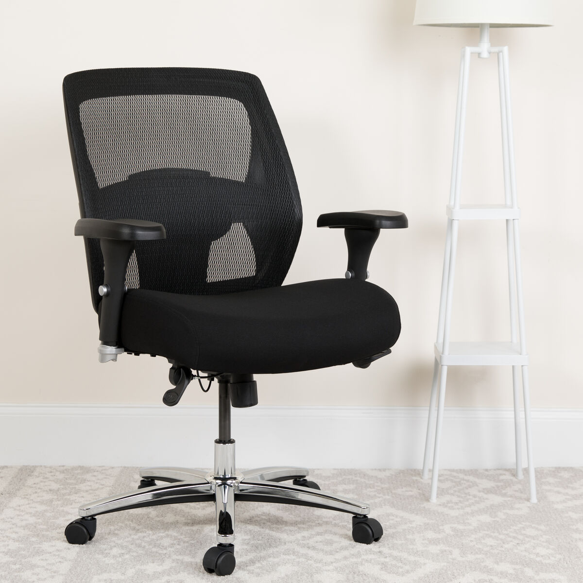 Peachy Hercules Series 24 7 Intensive Use Big Tall 500 Lb Rated Black Mesh Executive Ergonomic Office Chair With Ratchet Back Pdpeps Interior Chair Design Pdpepsorg
