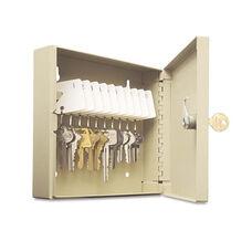 SteelMaster® Uni-Tag Key Cabinet - 10-Key - Steel - Sand - 6 7/8