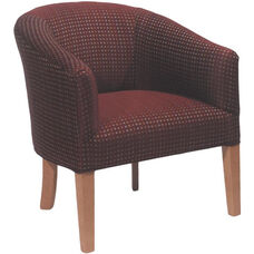 5802 Fully Upholstered Lounge Chair w/ Wood Tapered Leg - Grade 1