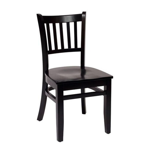 Our Delran Black Wood Slat Back Chair - Wood Seat is on sale now.