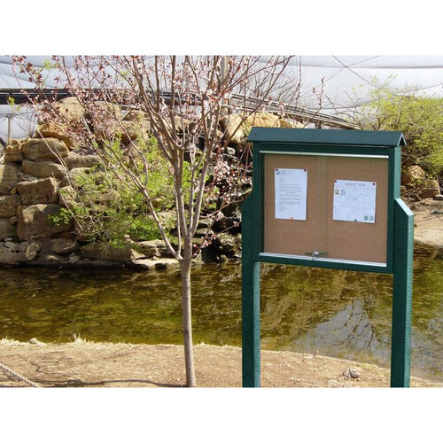 Our Medium One Side Recycled Plastic Message Center with 2 Posts is on sale now.