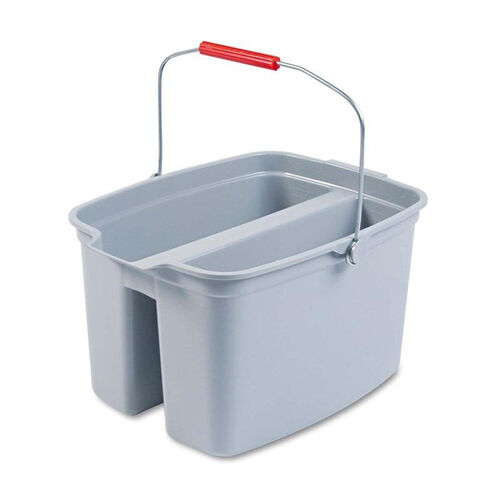 Our Rubbermaid® Commercial 19 Quart Double Utility Pail - 18 x 14 1/2 x 10 - Gray Plastic is on sale now.