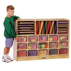 Sectional Mobile Cubbie Storage Unit