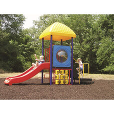 Galvanized Steel Tube Constructed Miss Minnie Value Series Play Center with Thermoplastic Coated Punch Steel Decks - 84
