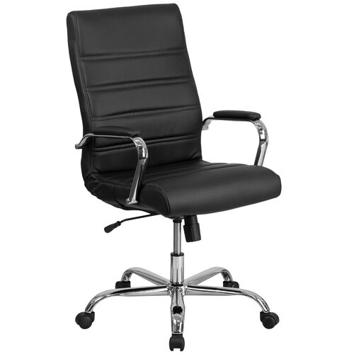 Our High Back LeatherSoft Executive Swivel Office Chair with Chrome Base and Arms is on sale now.