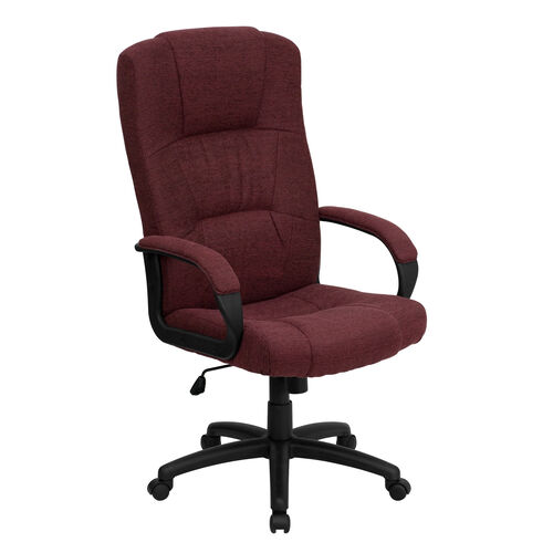 Our High Back Burgundy Fabric Executive Swivel Office Chair with Arms is on sale now.