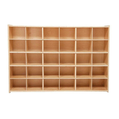 Our 30 Cubbie Tray Baltic Birch Plywood Storage Unit with Tuff-Gloss UV Finish - 50.75