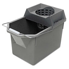 Rubbermaid® Commercial Pail/Strainer Combination - 15qt - Steel Gray