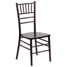 "HERCULES Series Walnut Wood Chiavari Chair with <span style=""color:#0000CD;"">Free </span> Cushion"