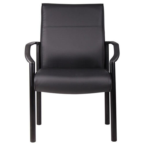 Our Mid Back LeatherPlus Guest Chair with Lumbar Support- Black is on sale now.