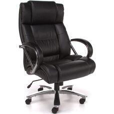 Avenger 500 lb Capacity Big & Tall Executive High-Back Chair - Black