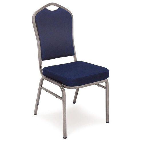 Our Superb Seating Heavy-Duty Steel Frame Fabric Upholstered Stacking Chair - Navy Blue is on sale now.