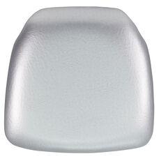 Hard Silver Vinyl Chiavari Chair Cushion