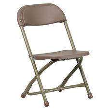 Kids Brown Plastic Folding Chair