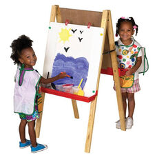 Double Sided Chalk and Dry Erase Boards Easel with Height Adjustable Legs