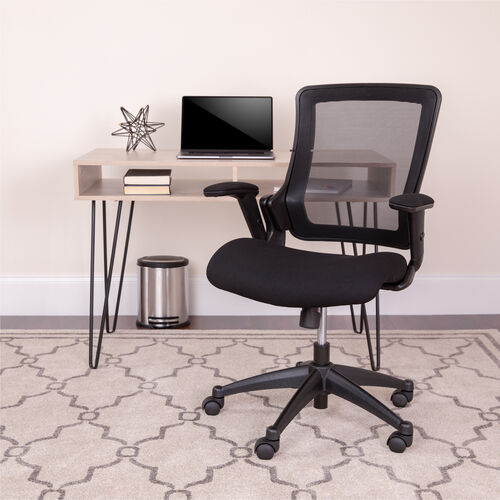 Our Mid-Back Black Mesh Executive Swivel Office Chair with Molded Foam Seat and Adjustable Arms is on sale now.