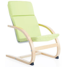 Kiddie Rocker with Removable Cushion and Steam-Bent Plywood Construction - Sage Green - 16