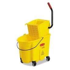 Rubbermaid® Commercial Wavebrake 35 Quart Bucket/Wringer Combinations - 12 to 32oz Mop Head Capacity