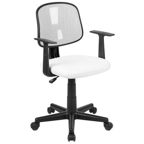 Our Basics Mid-Back Mesh Swivel Task Office Chair with Pivot Back and Arms, White, BIFMA Certified is on sale now.