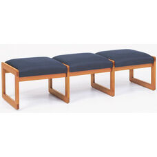 Classic Series 3 Seat Backless Bench with Sled Base