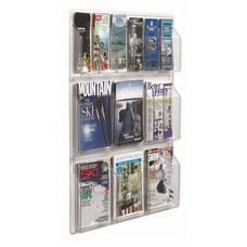 Clear-VU Combination Pamphlet and Magazine Display - 6 Pamphlets and 6 Magazines