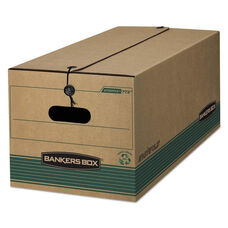 Bankers Box® STOR/FILE Extra Strength Storage Box - Legal - String/Button - Kraft/Green - 12/CT