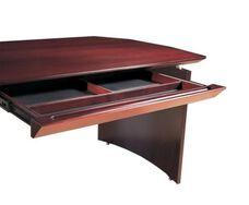 Napoli Center Desk Drawer - Sierra Cherry on Cherry Veneer