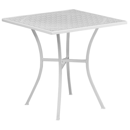 Our Commercial Grade Square Patio Table |Outdoor Steel Square Patio Table is on sale now.