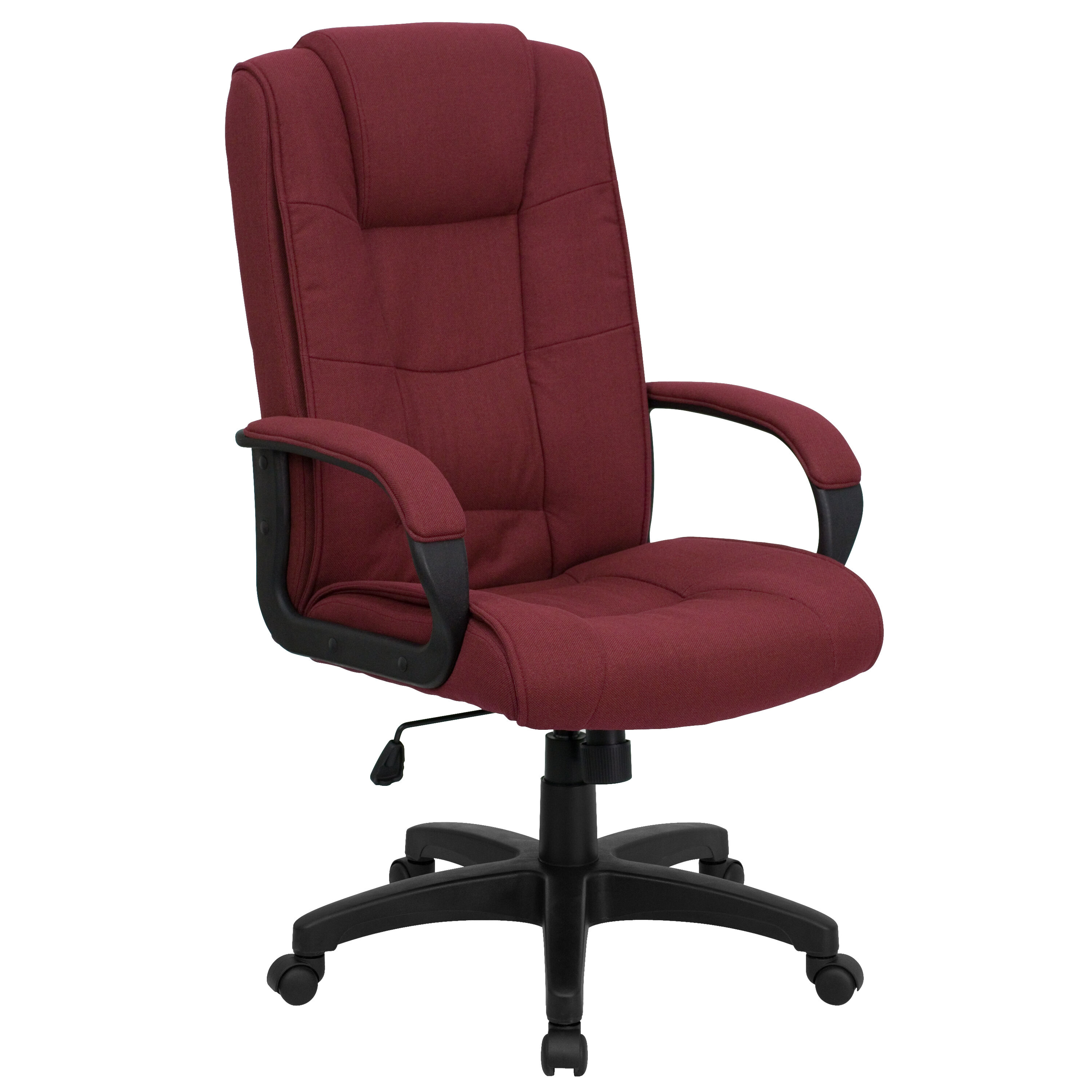 ... Our High Back Burgundy Fabric Executive Swivel Chair With Arms Is On  Sale Now.