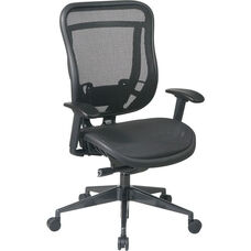 Space 818 Breathable Mesh Back and Seat Executive Office Chair with 2-to-1 Synchro Tilt - Black