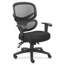 Lorell Mesh -Back Executive Chair - 27''W x 27''L x 40 -1/2''H - Black Fabric