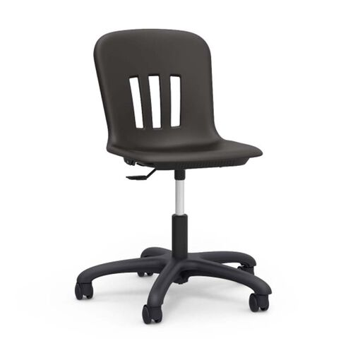 Quick Ship Metaphor Series Task Chair with Black Polypropylene Seat and Black Base - 24.13