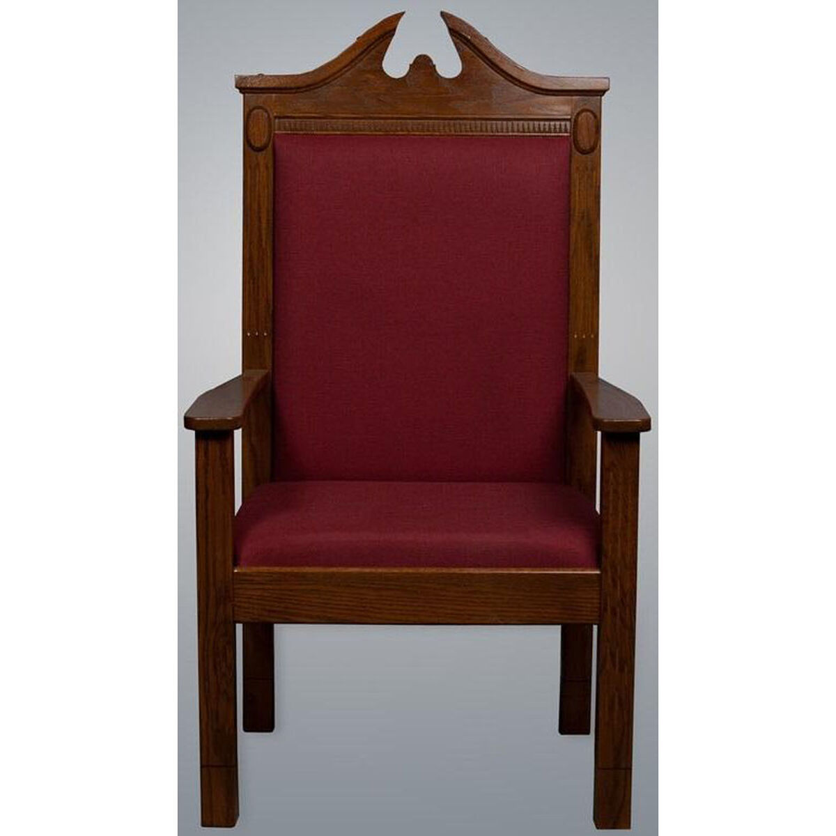 Our Stained Red Oak Side Pulpit Chair Is On Now