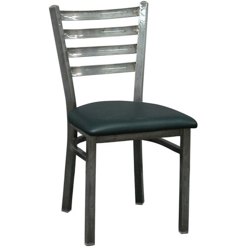 Metal Ladder Back Chair with Clear Coat