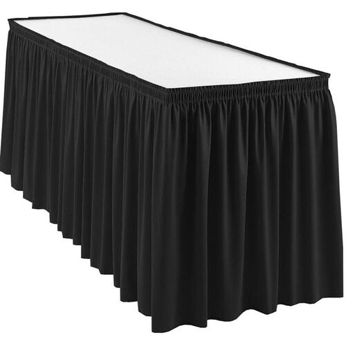 Our Wyndham 13 Foot Shirred Pleat Table Skirt with SnugTight™ Clips - Black is on sale now.