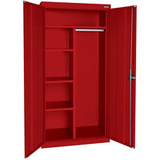 Elite Series 46'' W x 24'' D x 72'' H Combination Cabinet with Adjustable Shelves - Red