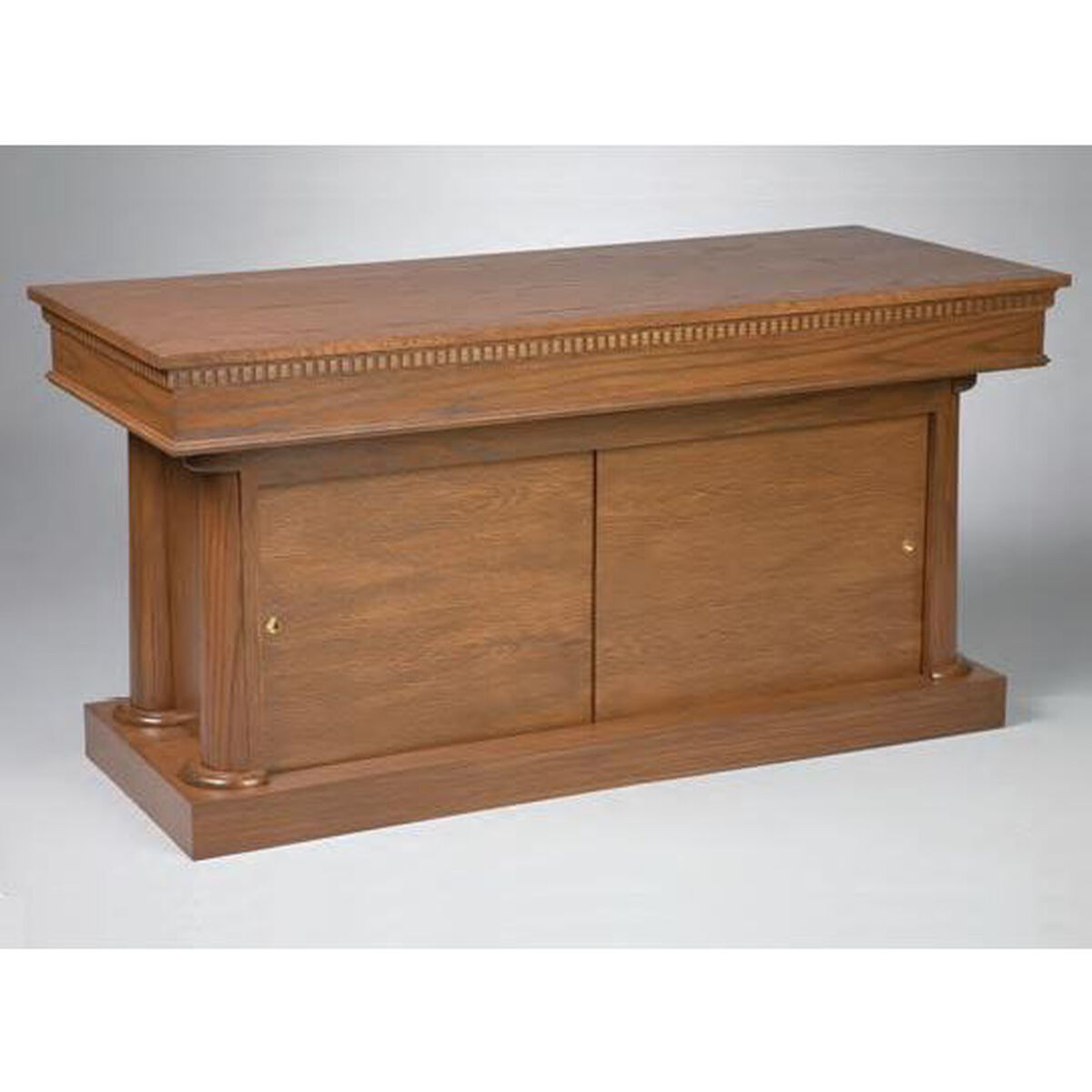 red oak closed communion table 8300ct | churchchairs4less